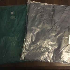 Small Med Couture Scrub Top LOT OF TWO TOPS